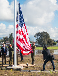 Martial Cottle Park Grand Opening Flag Raising