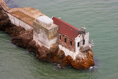July 31: Lime Point Lighthouse (remnants) below the Golden Gate Bridge. For some notes on how I processed this photo, see http://elf1.smugmug.com/Photography/photo-alterations/18675151_JVW72c#1443968845_pc4vDPV