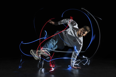 Breakdance light painting