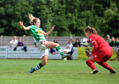 Womens Super League match between Yeovil Town Ladies FC v Aston Villa Ladies FC at The Jones  Stadium, SHERBORNE, SOMERSET, ENGLAND