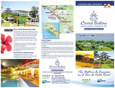 Spanish hotel brochure triple folded, outer page