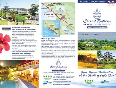 English hotel brochure triple folded, outer page