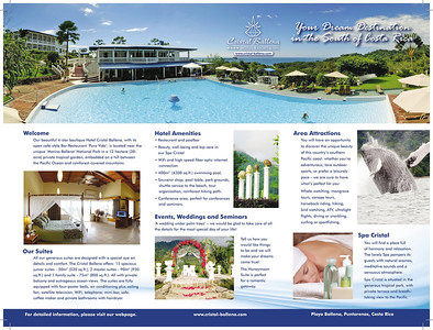 English hotel brochure triple folded, inner page