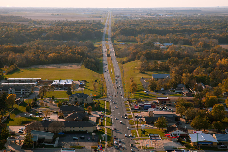 A view of Charleston, Illinois on October 21, 2011. (Jay Grabiec)