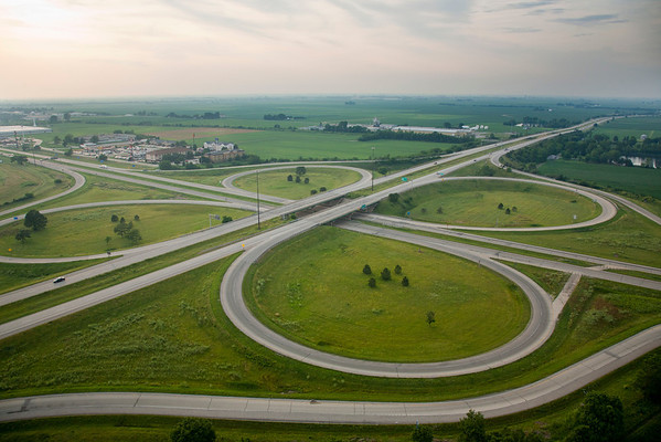 The Highway I-57 ramps in Mattoon, Illinois on July 1, 2011. (Jay Grabiec)
