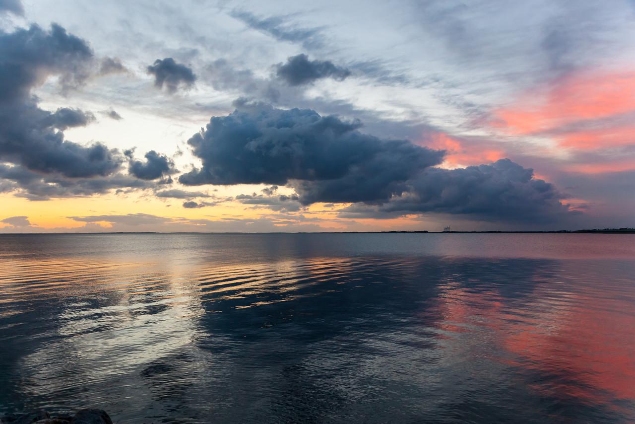 sunset over limfjorden