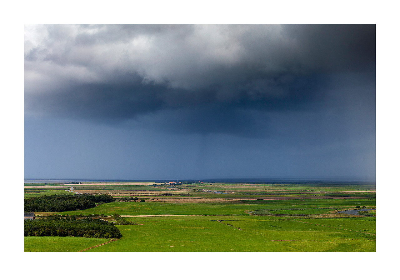 19 Summer rain near Ribe - 74x103cm photoprint with black frame and plexiglass