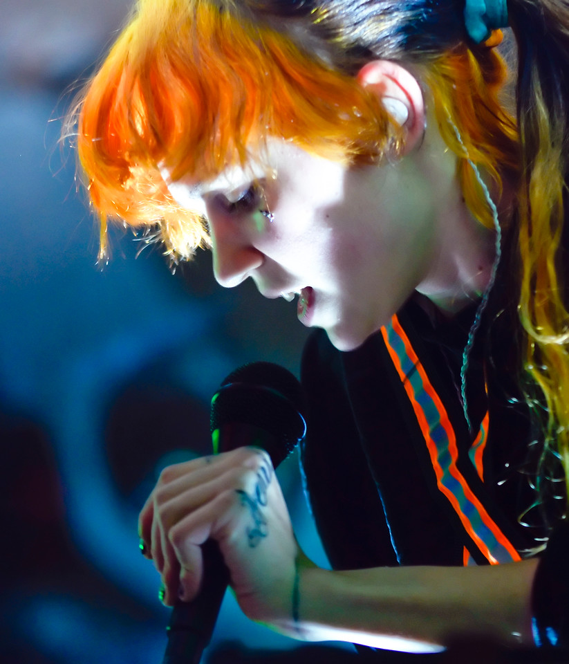 Grimes performing live at the Hardrock Cafe Manila
