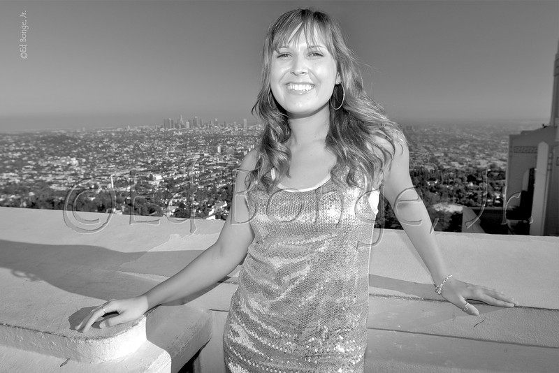 Brooke.  This senior picture possibility was taken at Griffith Observatory with the Los Angeles skyline in the distance.