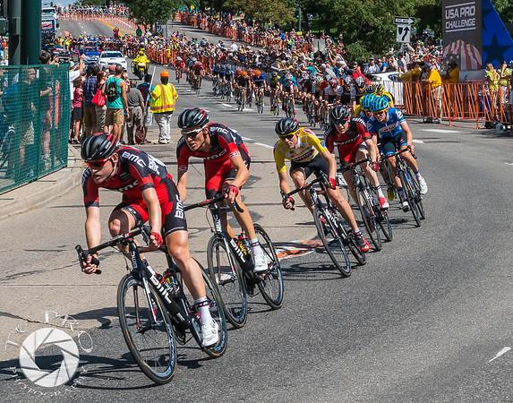 Race leader Tejay Van Garderen protected by Team BMC.