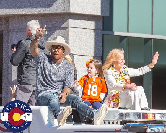 Super Bowl MVP Von Miller and Mrs. Bowlen.