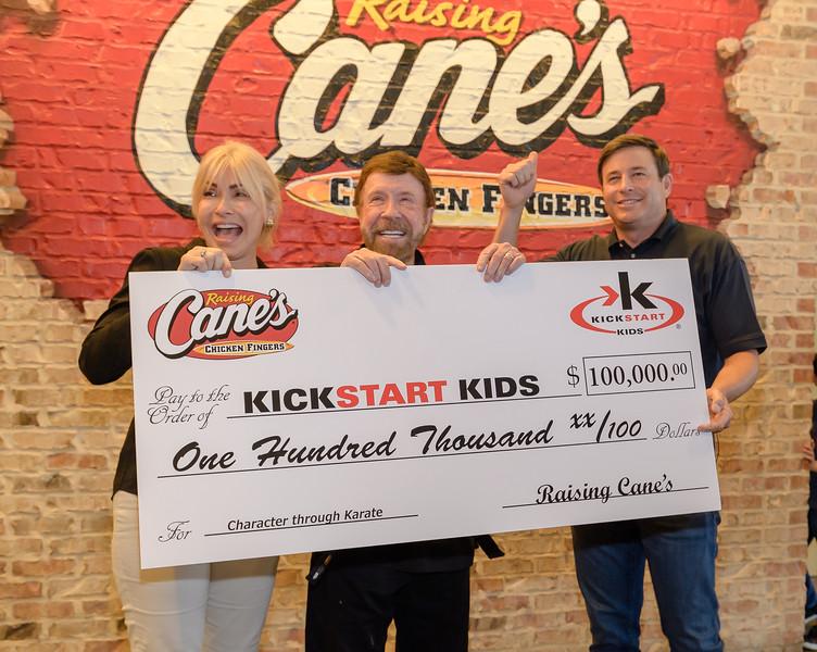 Raising Cane's + Chuck Norris' Kickstart Kids