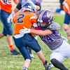 2015-10-03:  8th Grade.  Spartan Purple vs Hawk Orange - Sagewood MS