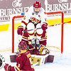 Pictured:  BC:  #30, Thatcher Demko, SO, G, 6-4, 195, San Diego, CA; #5, Michael Matheson, JR, D, 6-2, 194, Pointe-Claire, QUE;  DU:  #16, Zac Larraza, F, 6-2, 200, SR, Scottsdale, AZ