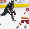 Pictured:  SCSU:  #9, Joey Benik, F, 5-10, 175, JR, Andover, MN;  DU:  #7, Will Butcher, D, 5-10, 200, SO, Sun Prairie, WI
