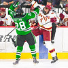 Pictured:  DU:  #4, Josiah Didier, D, 6-3, 220, SR, Littleton, CO;  UND:  #28, Pattyn, Stephane, F, 6-2, 215, SR, Ste. Anne, MAN