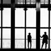 Shanghai Airport Silhouettes