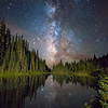 Milky Way over Lake Irene - Enhanced Bright Stars, Rocky Mountain National Park, CO