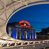 Union Station, Denver, CO in Denver Broncos Colors