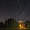 Star trails over University of Denver's Chamberlain Observatory
