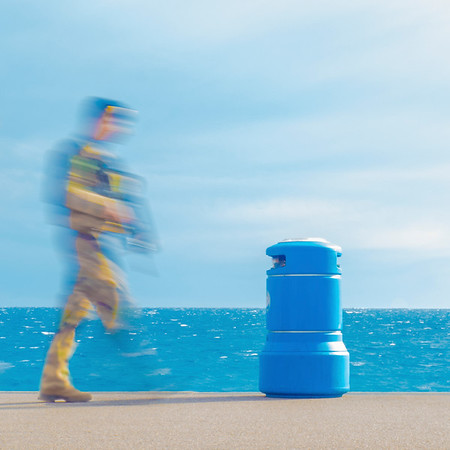 The Soldier and the Blue Bin