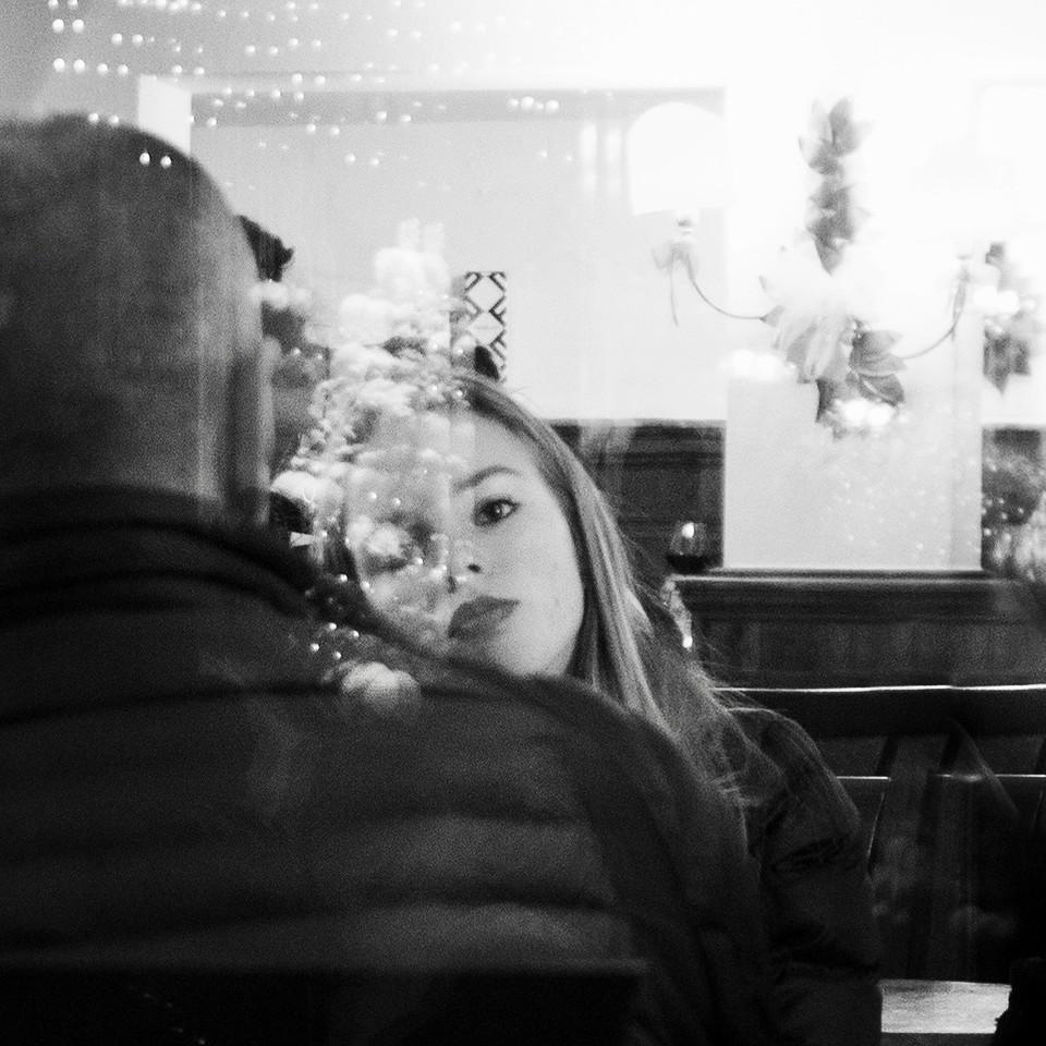 At the café - Limone Piemonte January 2018