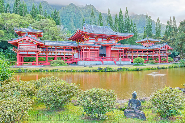 Byodo-In Temple, Valley of the Temples Memorial Park, Kahaluu, O'ahu, Hawaii