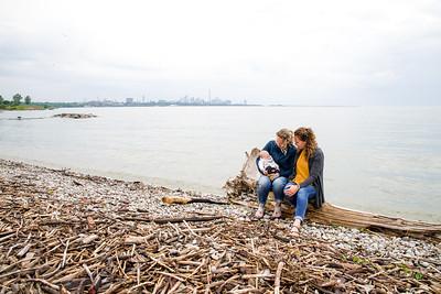 Family Portrait on Lake Ontario in Toronto