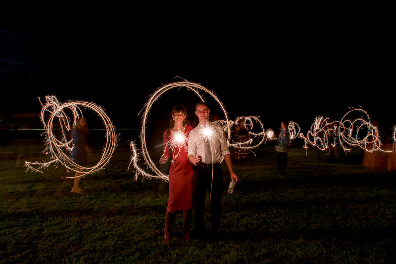 Nighttime sparkler fun in Prince Edward County