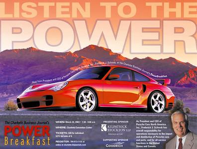 Advertisement for Power Breakfast.
