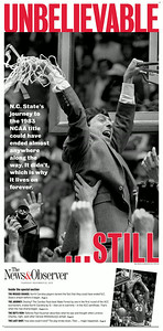 Special section cover celebrating 30th anniversary of N.C. State's championship