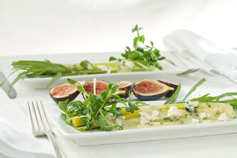 Poached Leek Salad