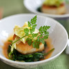 Scallop and Spinach