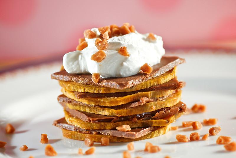 Sweet Potato Milk Chocolate Tower