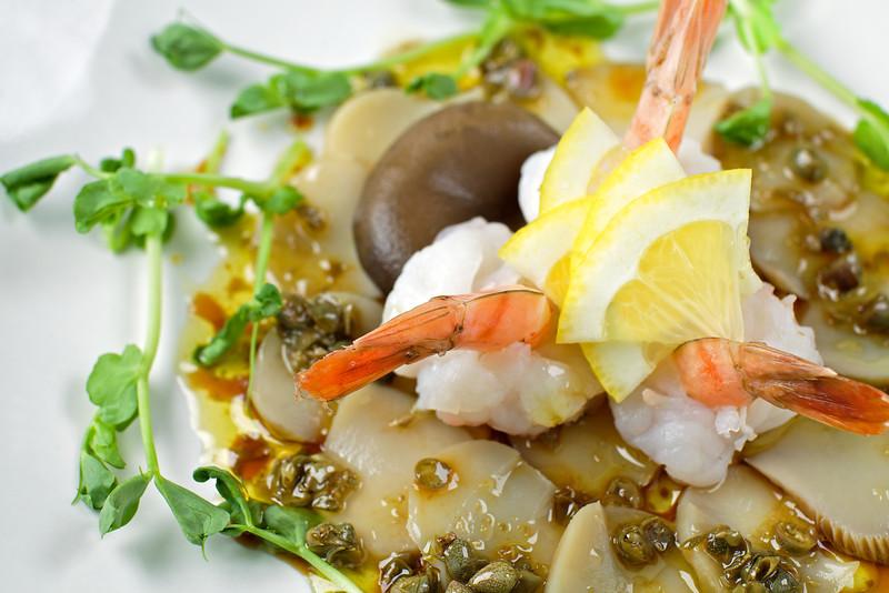 Shrimp and Mushroom Carpaccio
