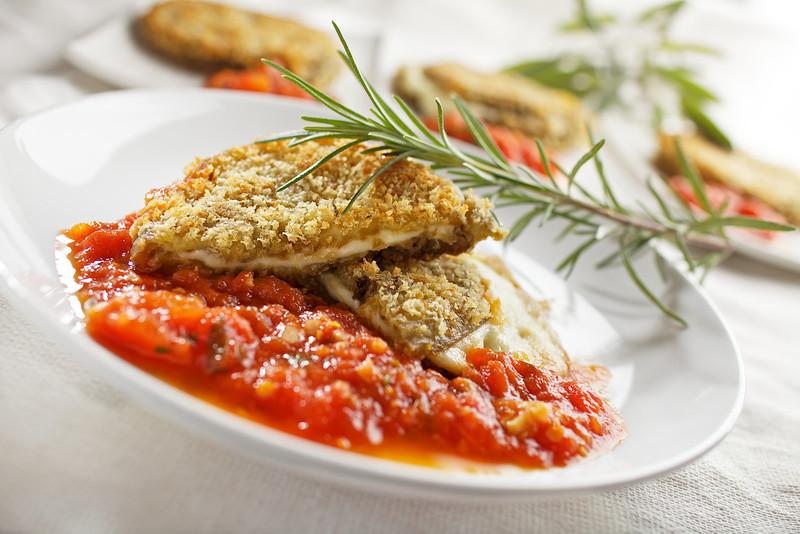 Eggplant Sandwich  with Tomato Sauce