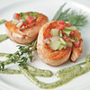 Salmon Pinwheels with Herb Cream Drizzle