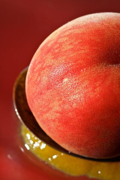 Peach on Spoon