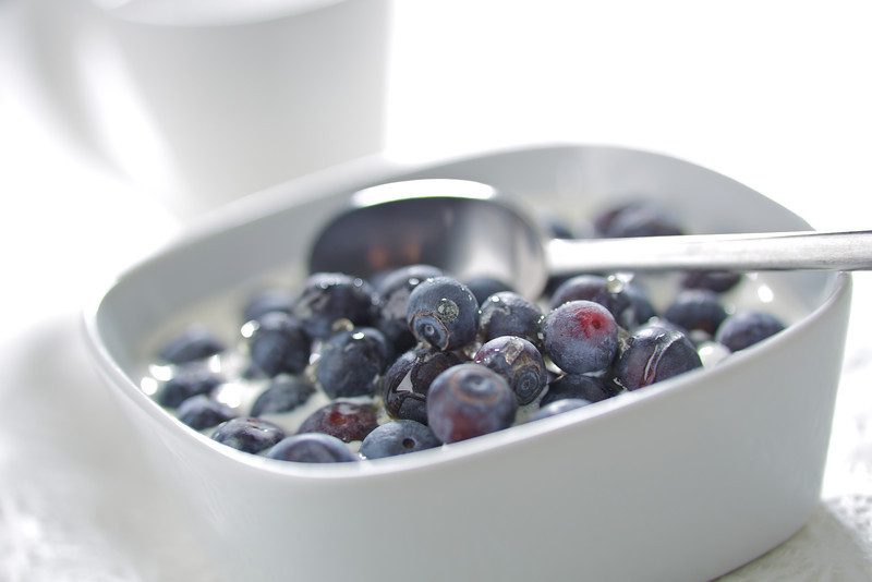 Blueberries with Cream
