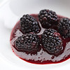 Blackberries in puree