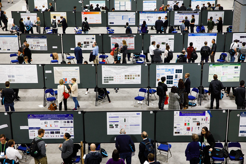 Attendees at the poster session during General Views