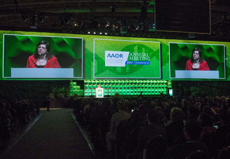 AACR CEO Margaret Foti during Opening Ceremony
