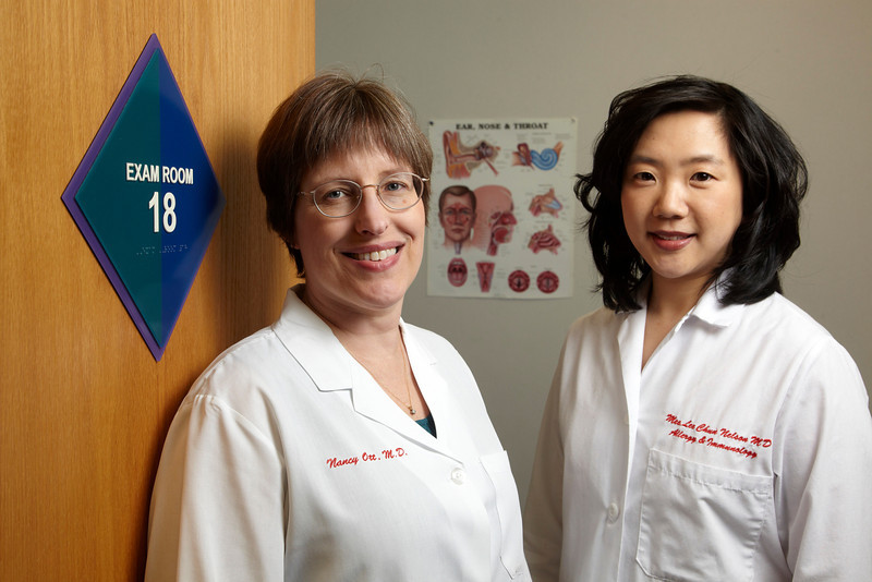 Pediatricians Dr Ott and Dr Nelson
