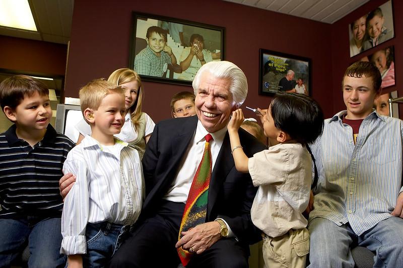 Bill Austin, Starkey Hearing Foundation to aid poor children in receiving hearing aids.