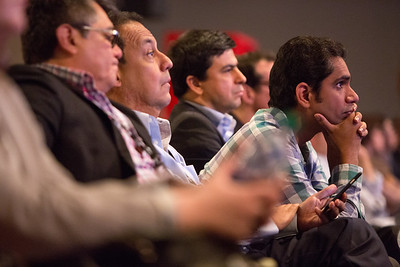 Attendees listen to presenters  during Breast Cancer?Triple-Negative/Cytotoxics/Local Therapy Oral Abstract Session