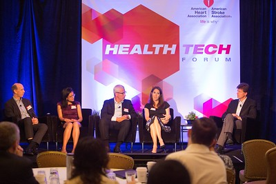 Austin, TX - AHA 2014 Health Tech Forum -  Kim Newlin RN, CNS, ANP-C, NP, FPCNA, speaks during the Morning Panel – Bringing Technology Into Practice panel here today, Tuesday September 30, 2014 during the American Heart Associations Health Tech Forum being held here at the Driskoll Hotel. Photo by © AHA/Scott Morgan 2014 Technical Questions: todd@medmeetingimages.com