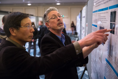 San Francisco, CA - OTC 2015 - Attendees during the Poster Session at the Arteriosclerosis, Thrombosis and Vascular Biology/Peripheral Vascular Disease Scientific Sessions here today, Thursday May 7, 2015 at the Hilton in San Francisco. Photo by © OTC/Scott Morgan 2015 Contact Info: todd@corporateeventimages.com