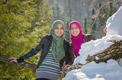Winter shoot with Asilah and Mufidah