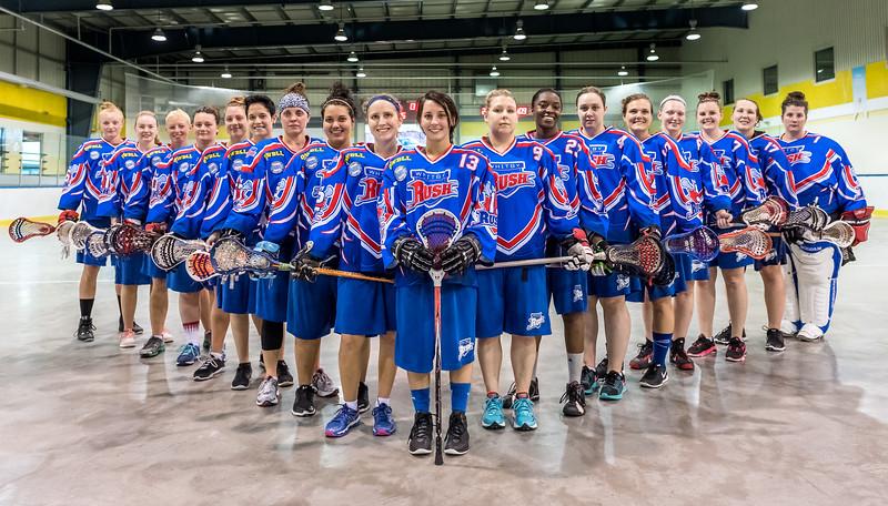 Whitby Rush Women's Box Lacrosse Team
