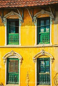 House detail, Boudhanath, Kathmandu, Nepal